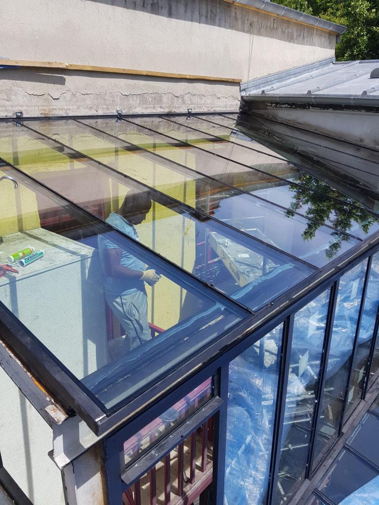 tapes de la r novation d 39 une verri re bh vitrier paris artisan vitrerie miroiterie. Black Bedroom Furniture Sets. Home Design Ideas